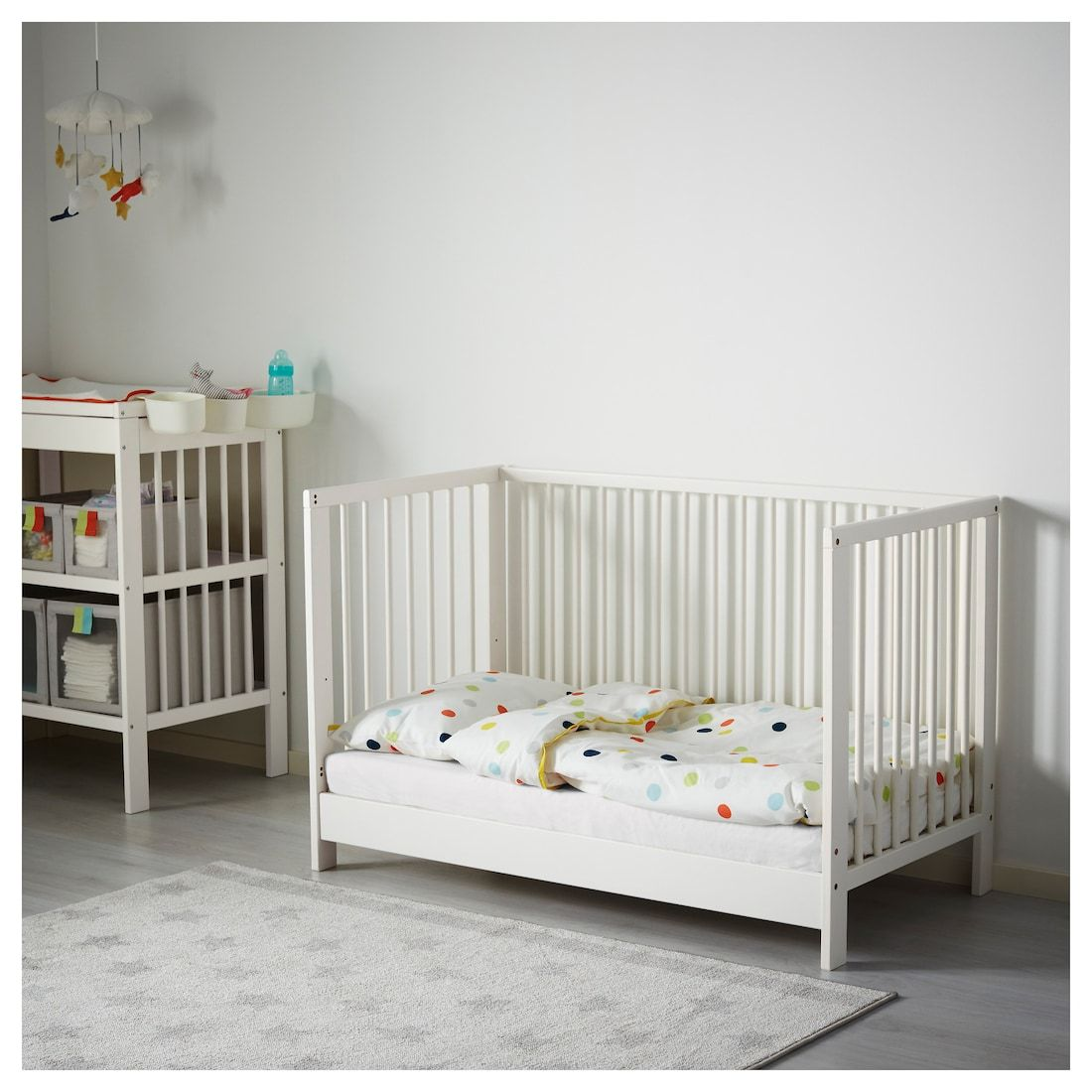 Gulliver Crib White 27 1 2x52 With Images Ikea Baby Room