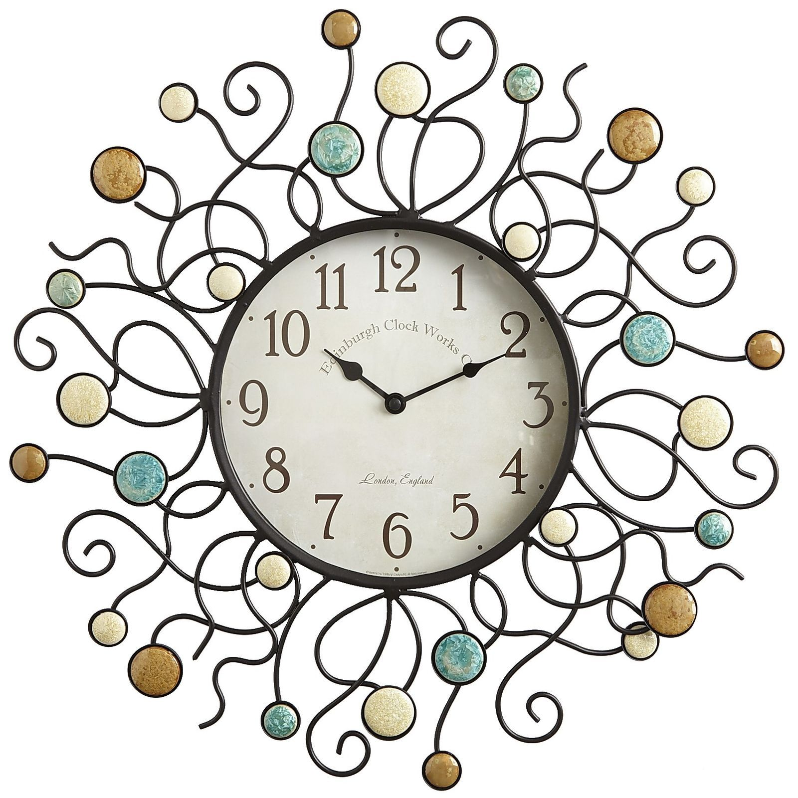 If you've always imagined time as a living vine in full bloom with opportunities, you're going to love this clock. You'll also love it if your outdoor decor features the teals, tans and ivories that are bursting out everywhere this season. If that's you, the time is at hand.
