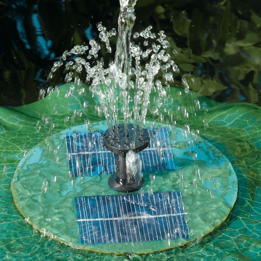 Smart Solar Floating Lily Fountain Great For Small 400 x 300
