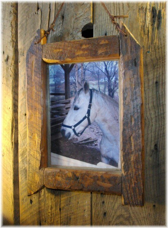 Barn wood picture frame made for 8x11 picture. The outside of the ...