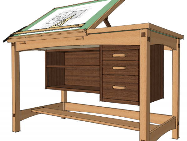 Exchanging Components Bookcase Woodworking Plans Drawing Desk Drawing Table