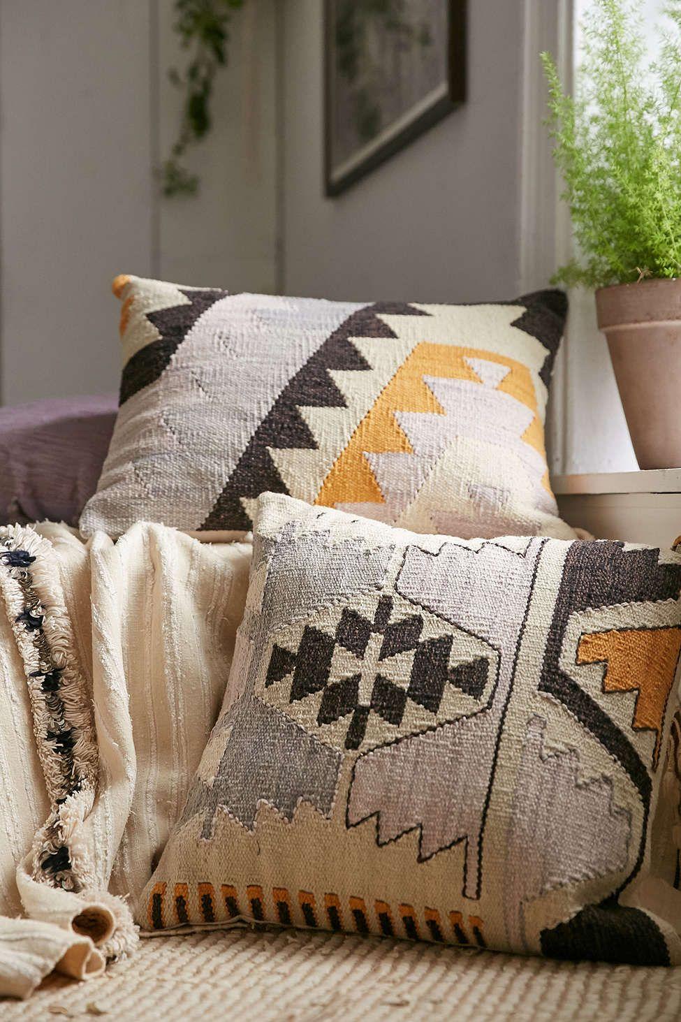 Arya Kilim Woven Pillow Pillows