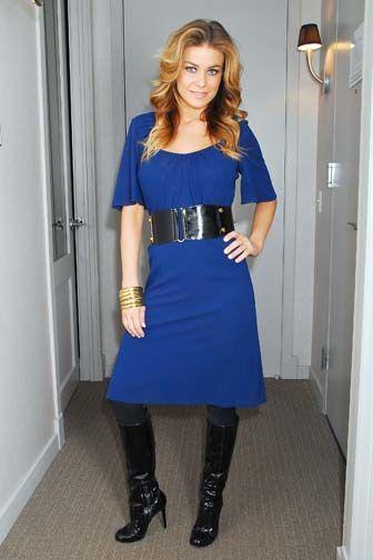 Blue Dresses Blue Dress Black Leggings And Boots Vintage Rose