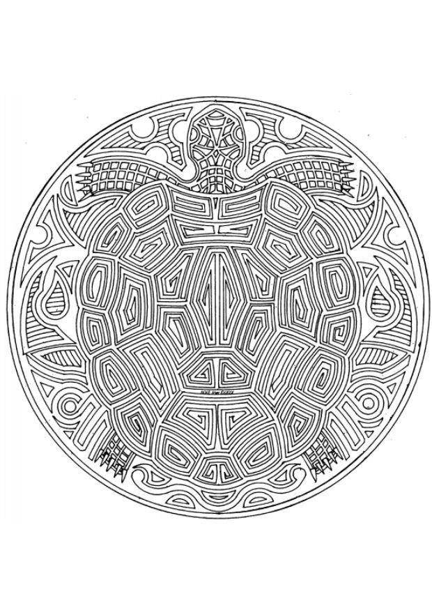 coloring pages for adults Coloring page turtle mandala img