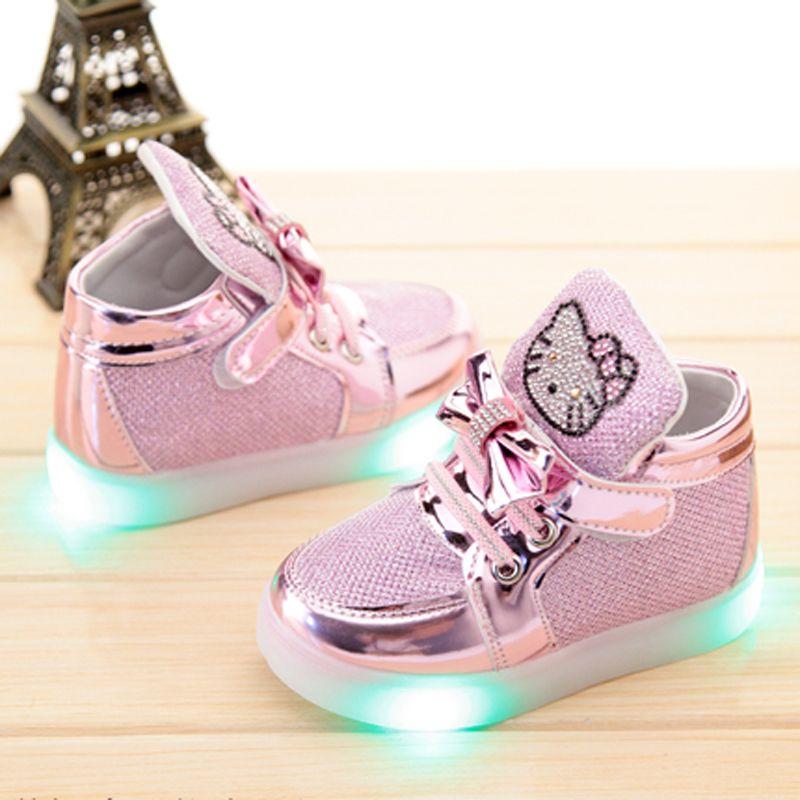 e4dc0950e4 Barato Crianças sapatos com luz 2016 bebê tênis meninas led sapatos miúdos  que funcionam sport sneaker flash de calçado com sapatos de iluminação, ...