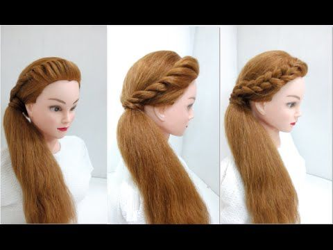 Side Twist Ponytail 4 Attractive Looks Easy Hairstyles Youtube