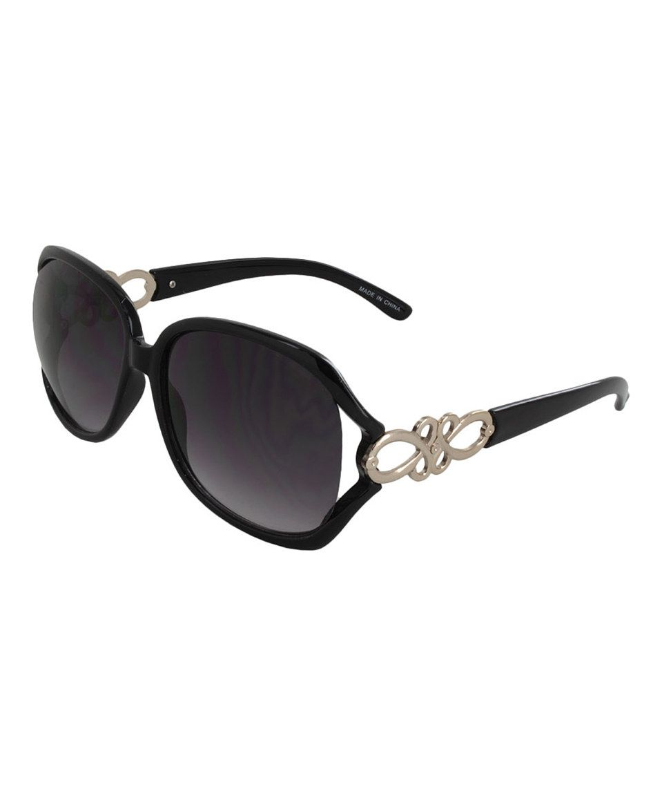 Another great find on #zulily! Black & Goldtone Knot Sunglasses by Lunette Eyewear #zulilyfinds