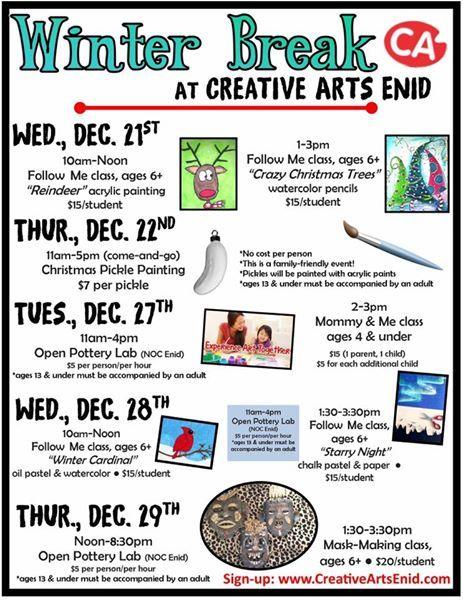 Fun things at Creative Arts Enid