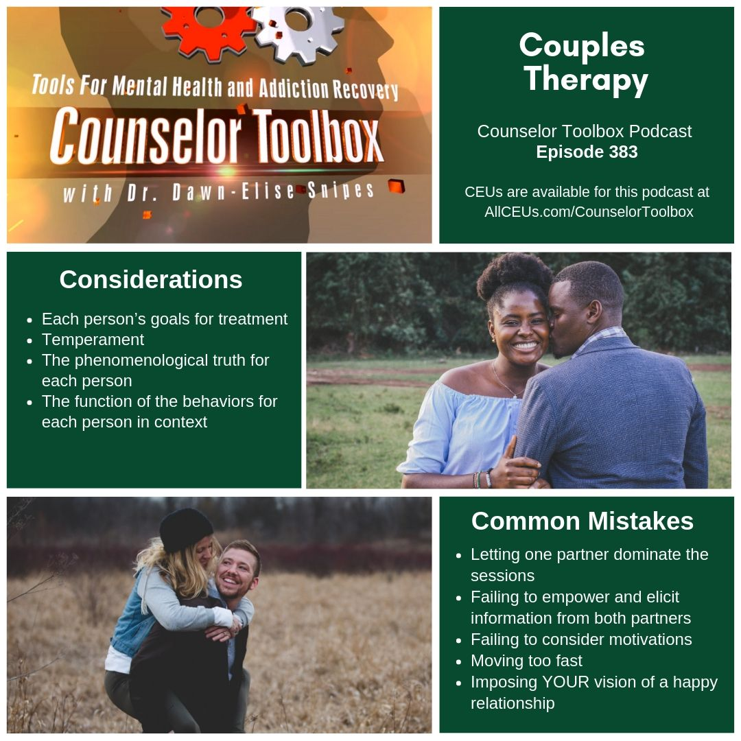 Counselor toolbox episode 383 couples therapy examines