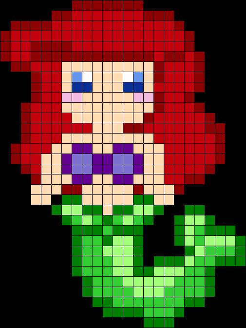 Ariel Perler Bead Pattern Not Actually A Cross Stitch Pattern But