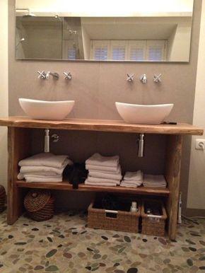 Welbie Sanitair) Badkamer Wijchen. Eindresultaat. Waskommen op een ...