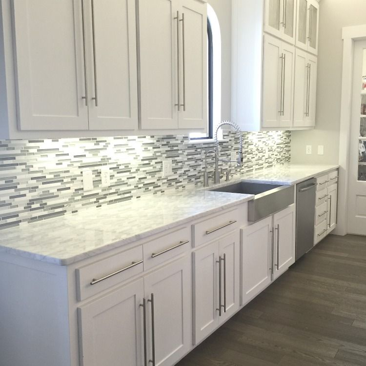 Starter Kitchen Cabinets: A Kitchen Backsplash Transformation + A Design Decision