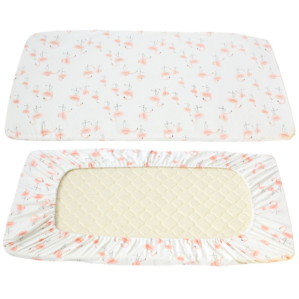 Baby bed sheet pattern - Click To Buy Baby Bed Sheets 100 Cotton Cute Flamingo Pattern