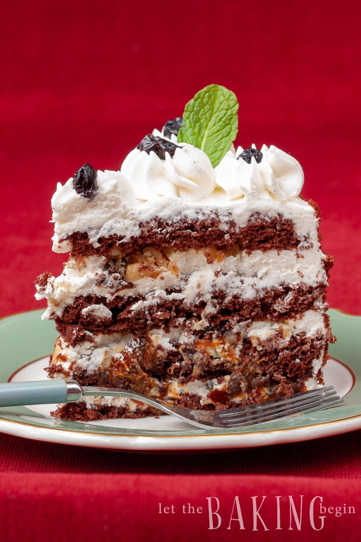 Chocolate walnut prune cake cake frosting recipe