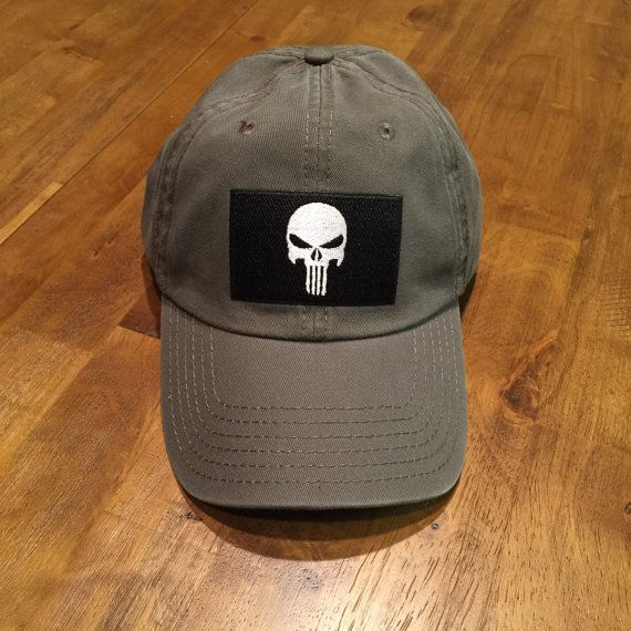 3a790a79454 DAD HAT Punisher Flag Dark Tan Garment Washed Low Profile Hat ...