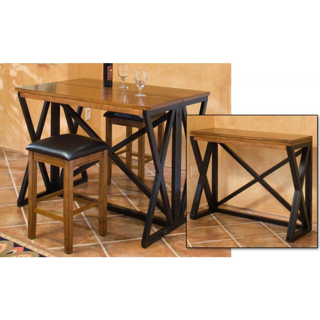 Unique And Multi Functional Bar Height Table For Your Breakfast Nook Or  Just To Add Extra Seating. The Tableu0027s Gate Fold Legs Can Make Either A  Regular ...