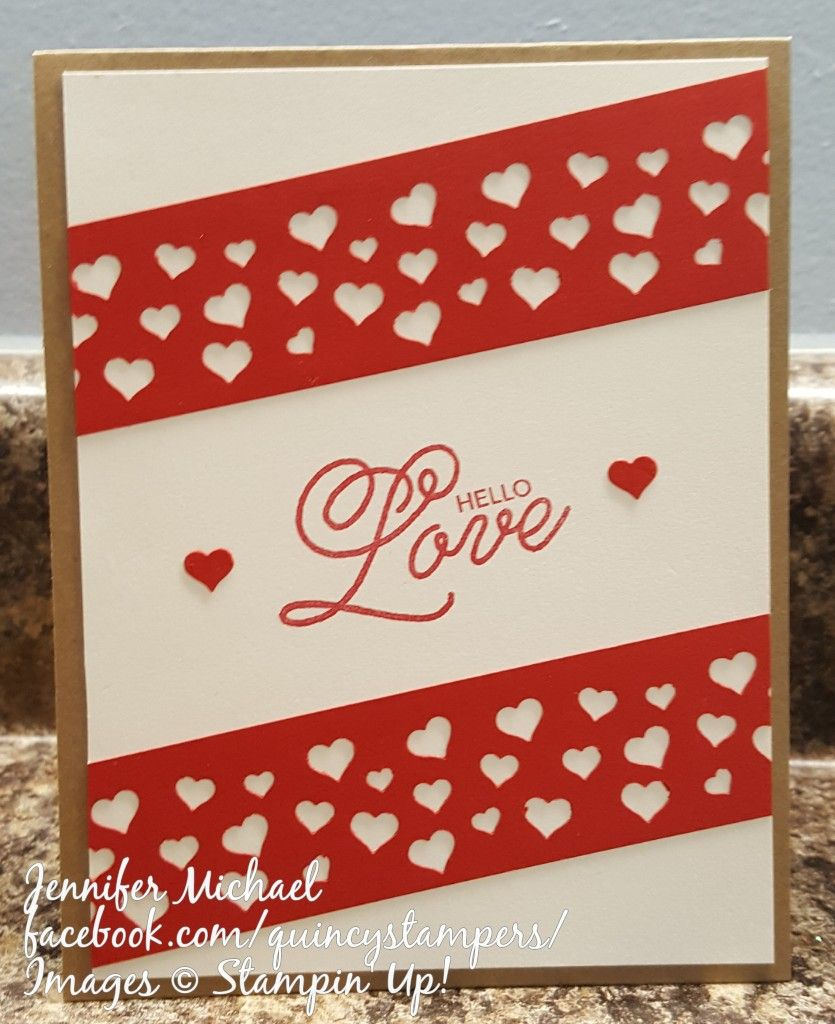 Stampinu up heart confetti love my style pinterest cards