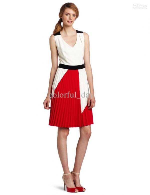 Stylish A Line Knee Length Black Belt Work Dresses