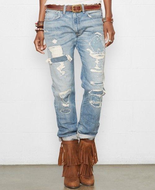 d71a6a028 Ralph Lauren Denim Supply Boyfriend Jeans Addison Wash
