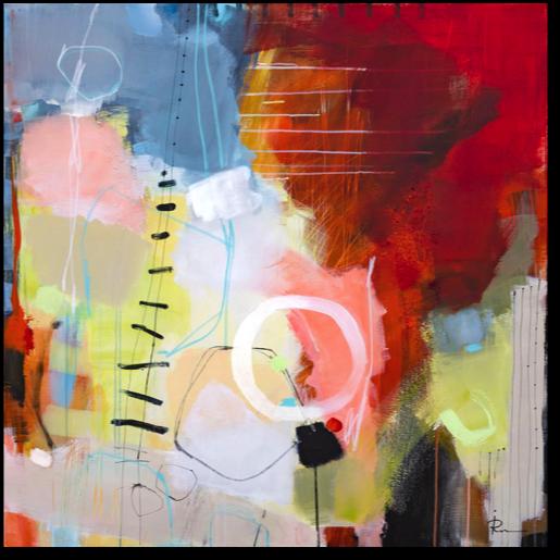 «Suggestion-19» – akryl på lerret - 100x100 cm.  Kunstner - Ira Ivanova.  Original - kr 11.000,-.   Tilgjengelig som kunsttrykk: A2-kr 1.200,-, A3-kr 900,-, A4-kr 600,-