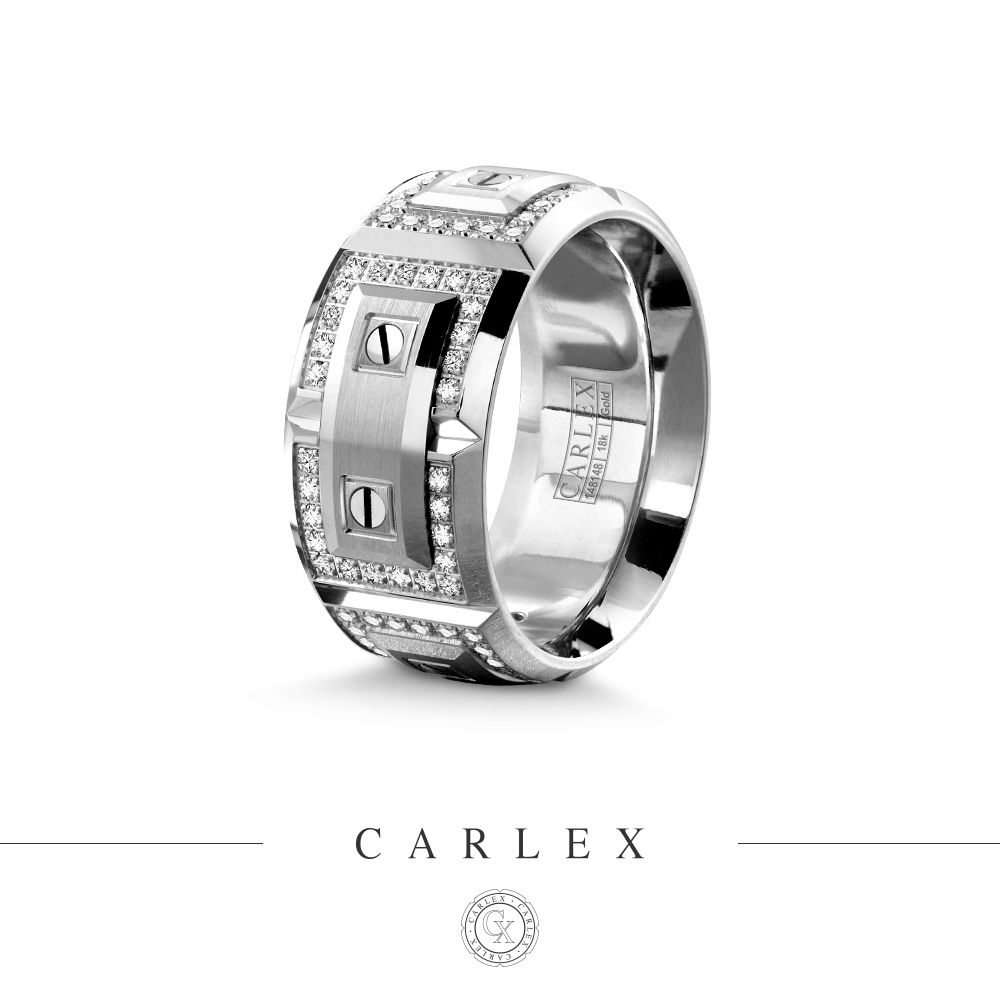 Nothing Says Luxury Better Than This Dapper White Gold CARLEX Encrusted With 112 Diamonds