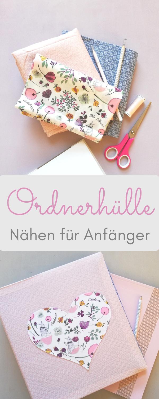 Photo of Ordnerhülle / Buchhülle nähen für Anfänger