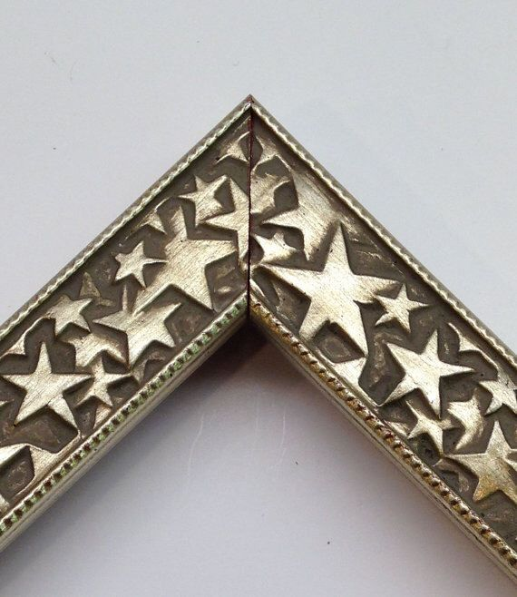 Silver Stars Picture Frame 3x5 4x6 5x7 8x10 11x14 Hollywood Picture Frame Patriotic Picture Frame Unique Picture Frames Picture Frames Sheet Music Art