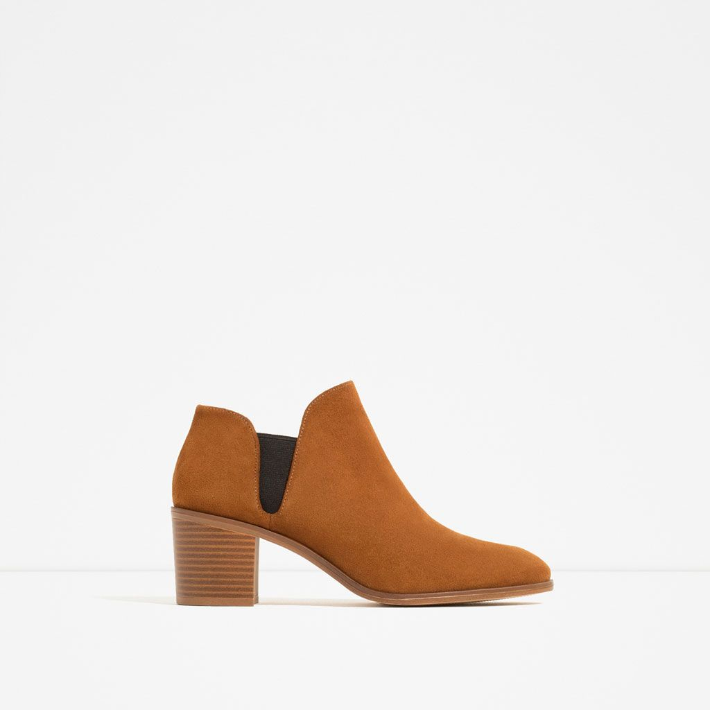 Shoes From Boots 1 With Image Detail Elastic Of Leather Ankle Zara UqppTvw8
