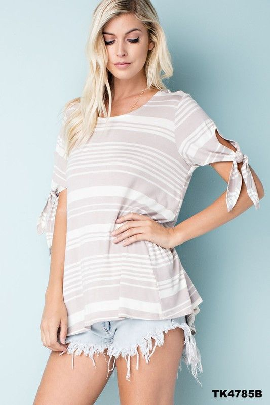 New shipment today! Braylin Top is new on the floor! See more pictures here: http://www.ivorycloset.com/products/braylin-top-stone-ribbon-tie-sleeve-top?utm_campaign=social_autopilot&utm_source=pin&utm_medium=pin