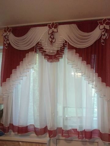 Ideas de cortinas para cocina mia pinterest curtain for Como hacer cortinas corredizas