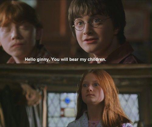 Haha. Ginny and Harry