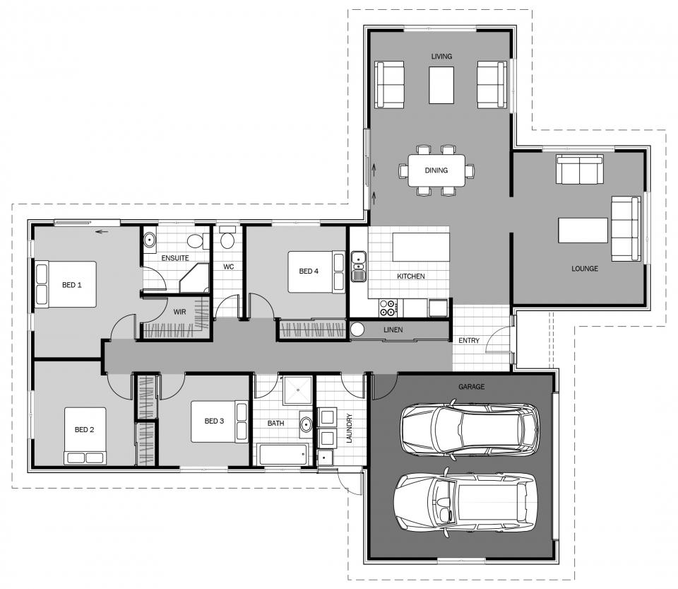 Gambier Signature Homes Haus Grundriss Grundriss Einfamilienhaus Grundriss Bungalow