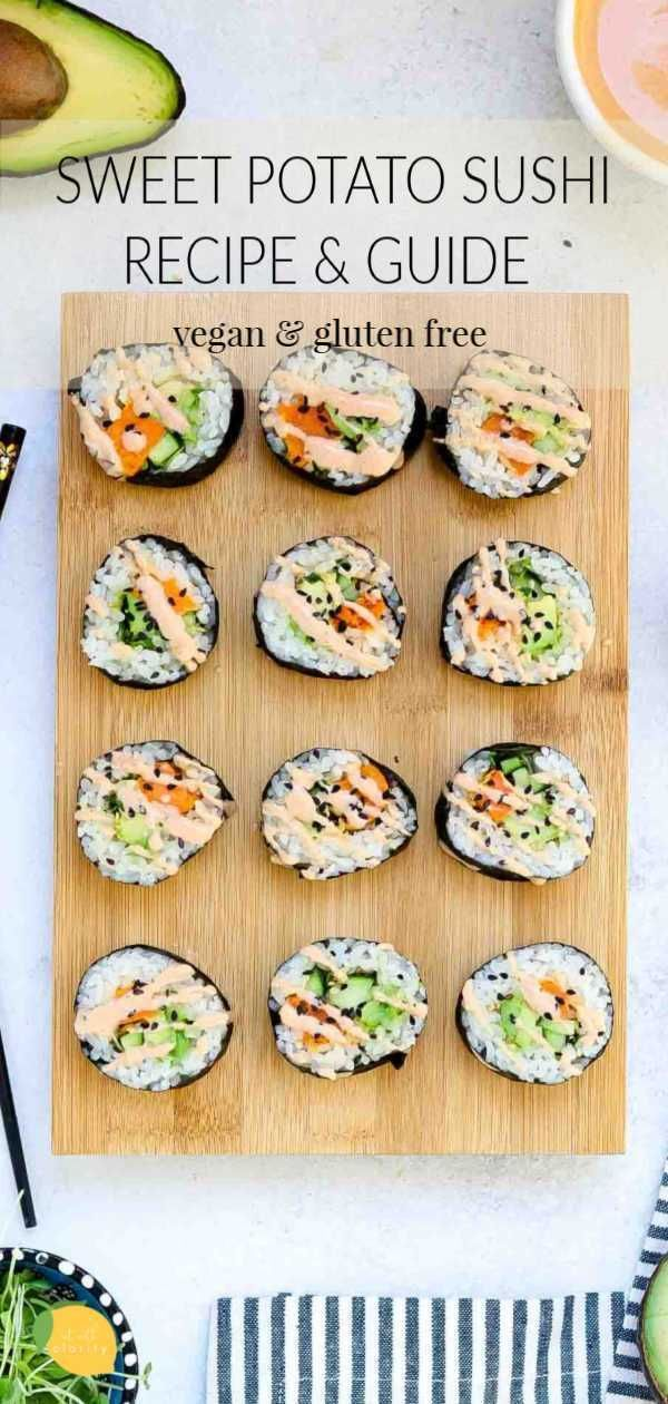 Photo of Einfaches vegetarisches Süßkartoffel-Sushi-Rezept