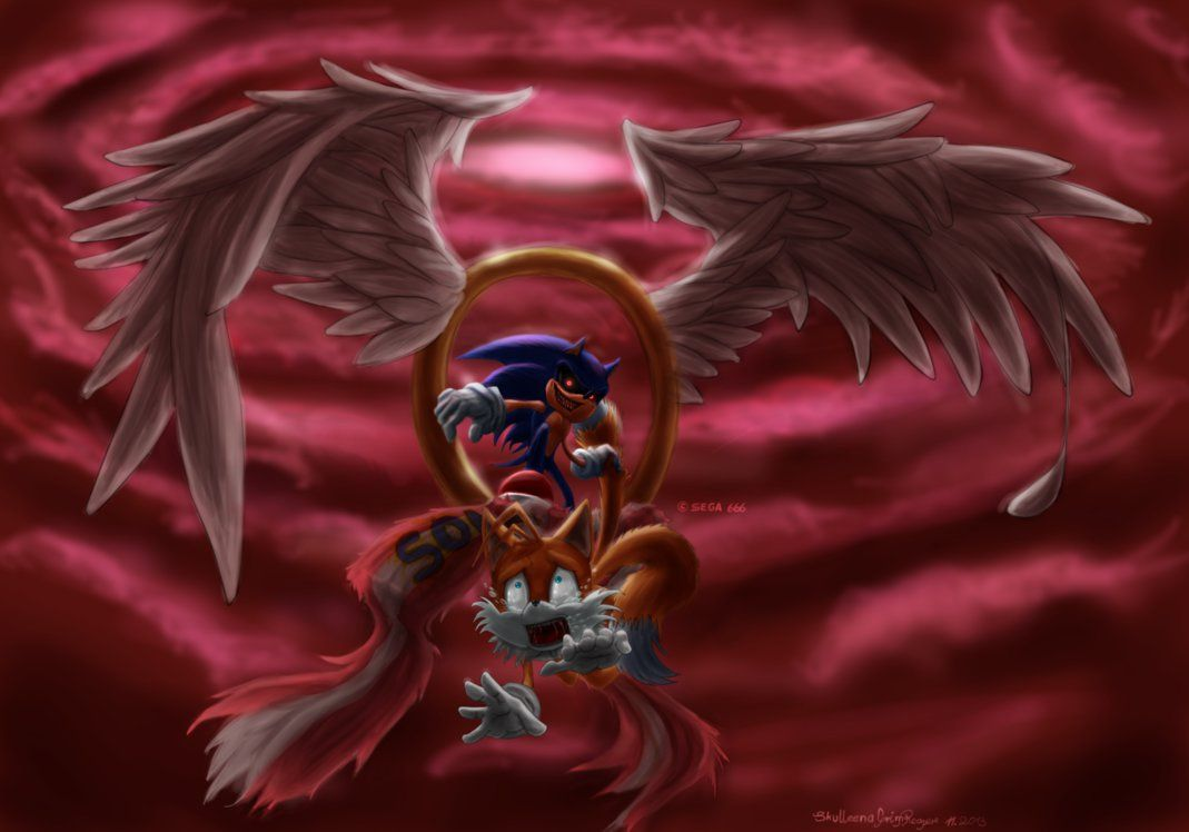 Sonic Exe You Re Too Slow By Fraeulein Absynth On Deviantart Sonic Fan Art Sonic And Shadow Tails Doll
