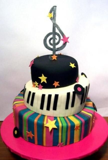 Tier Music Theme Birthday Cake My Daughter Wants A Music Theme For Her