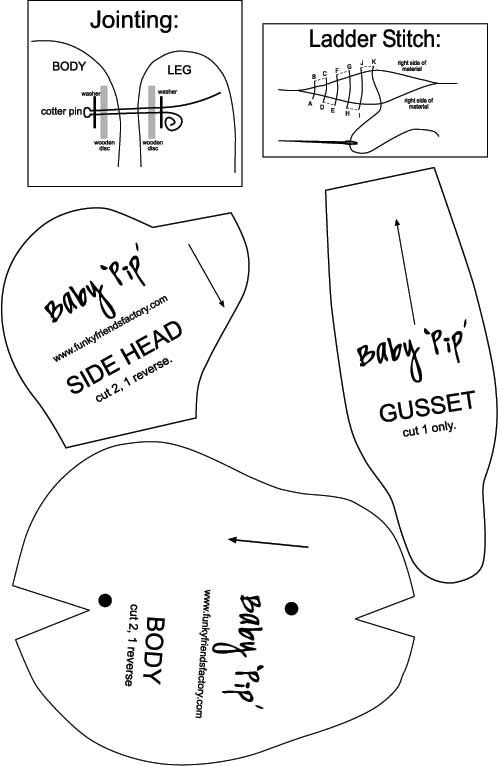 Baby Pip Teddy Bear Bears, Patterns and Teddy bear - onesie template