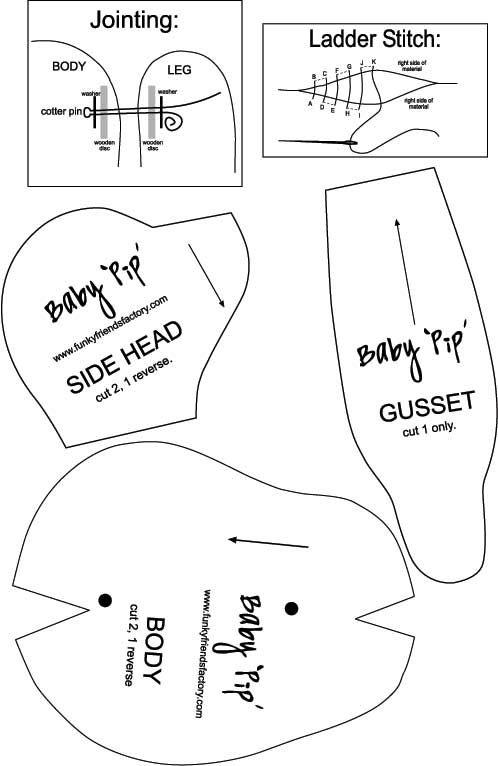 Baby Pip Teddy Bear | Pinterest | Molde y Costura