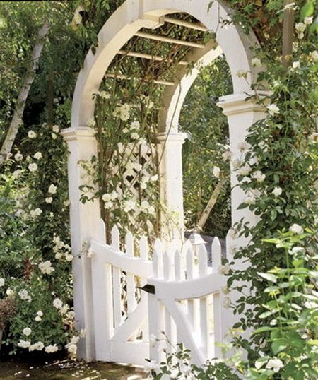 picket fence gate with arbor. Gate And Pergola Arched Arbor White Picket Fence Entry With E