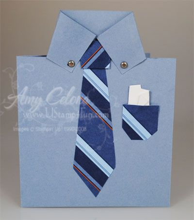 Mens shirt card