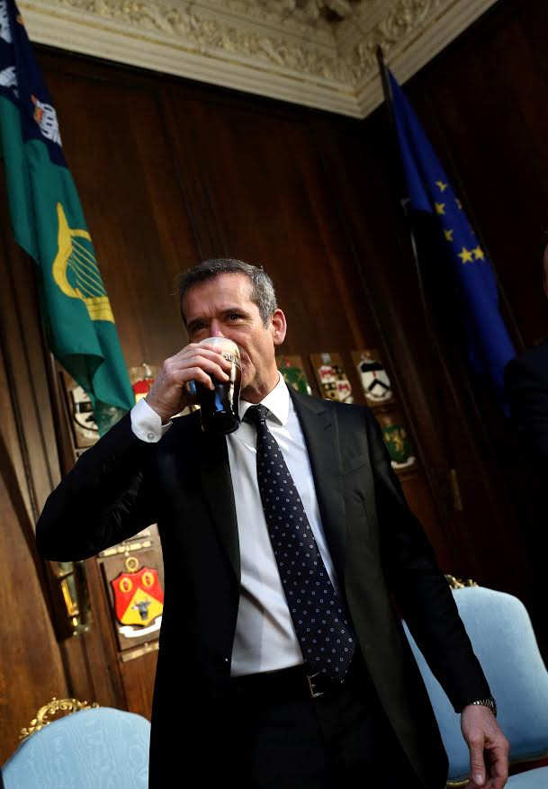 New Tourism #Ireland ambassador Commander, Chris Hadfield enjoying a pint of Guinness during his recent visit