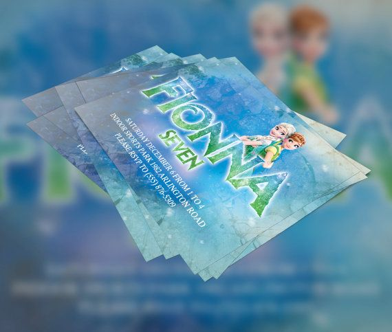 Frozen Fever Inspired Birthday Invitation by KennethQuadeDesigns