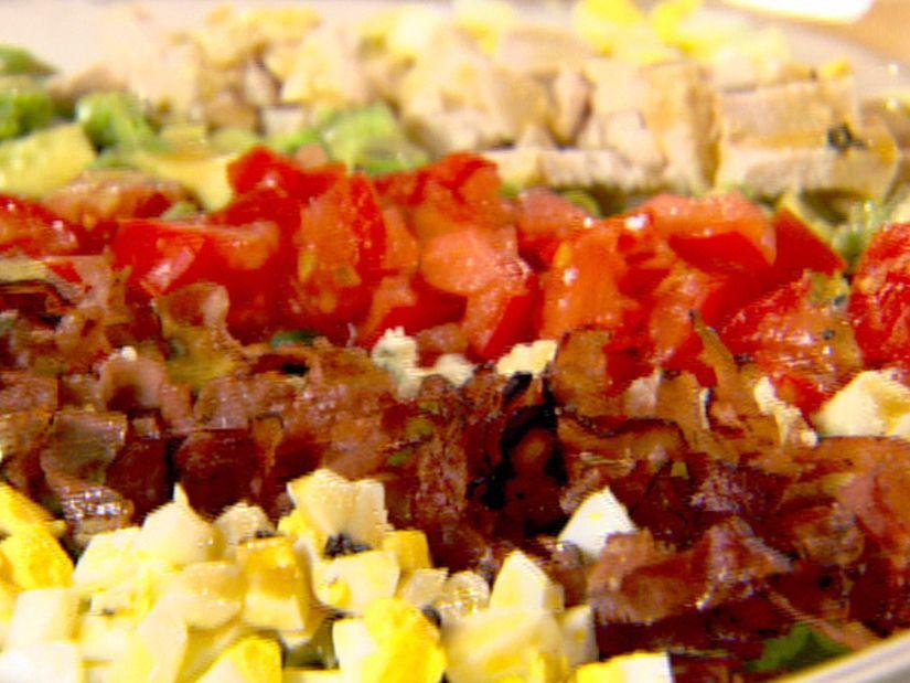 Cobb Salad from FoodNetwork.com...olive oil, red wine vinegar, dijon, worcestershire, garlic