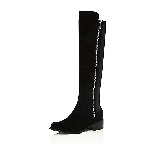Buy Cheap 2018 Womens Black knee high riding boots River Island Largest Supplier Sale Browse Clearance Classic Low Shipping Cheap Price rqIaHfjov