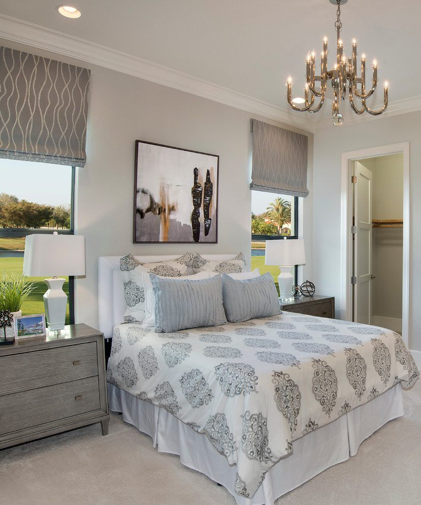 Best Agreeable Gray Bedroom Transitional With Carpet Black Wall 640 x 480
