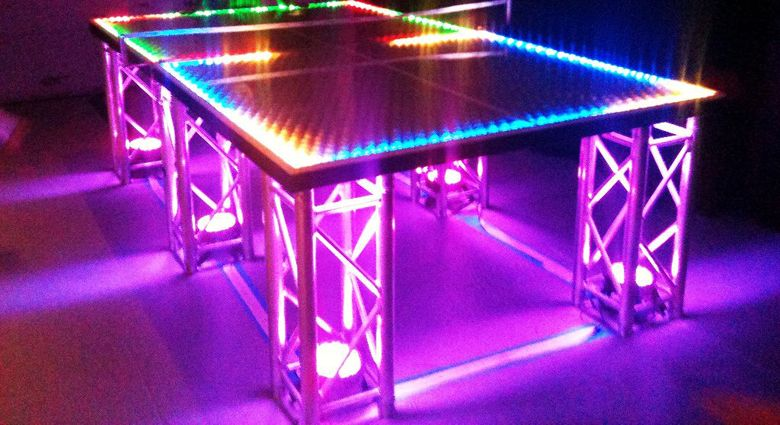 Exceptional LED Ping Pong Table