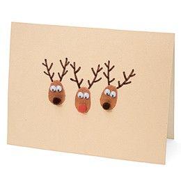 home made reindeer cards?