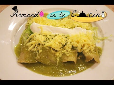 Enchiladas Verdes de pollo y atun - YouTube