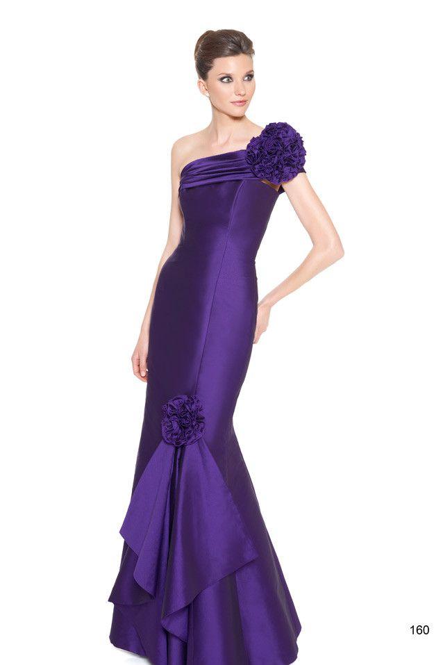 Vestido de fiesta largo asímetrico | vestido | Pinterest | Vestidos ...