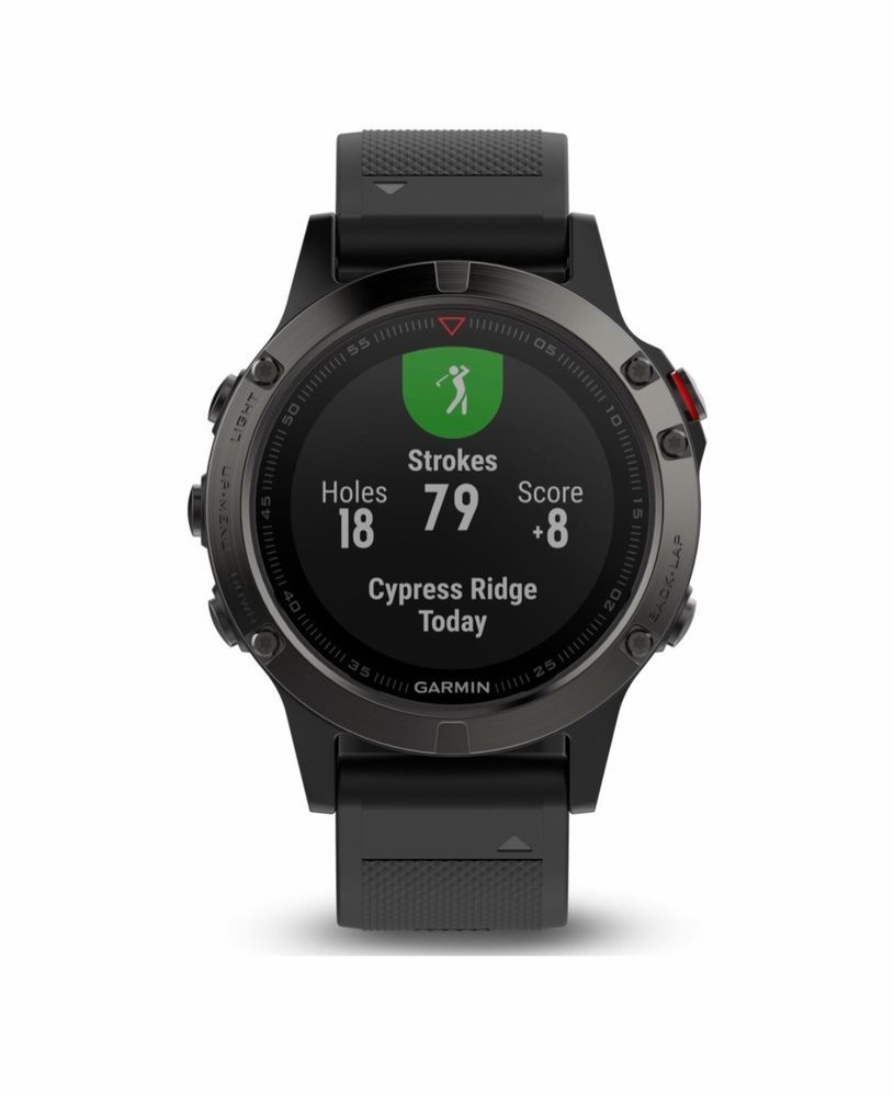 9e09c2ac1c75 Garmin Fenix 5X 010-01733-01 Sport GPS Watch- Slate Gray Sapphire Black  Band