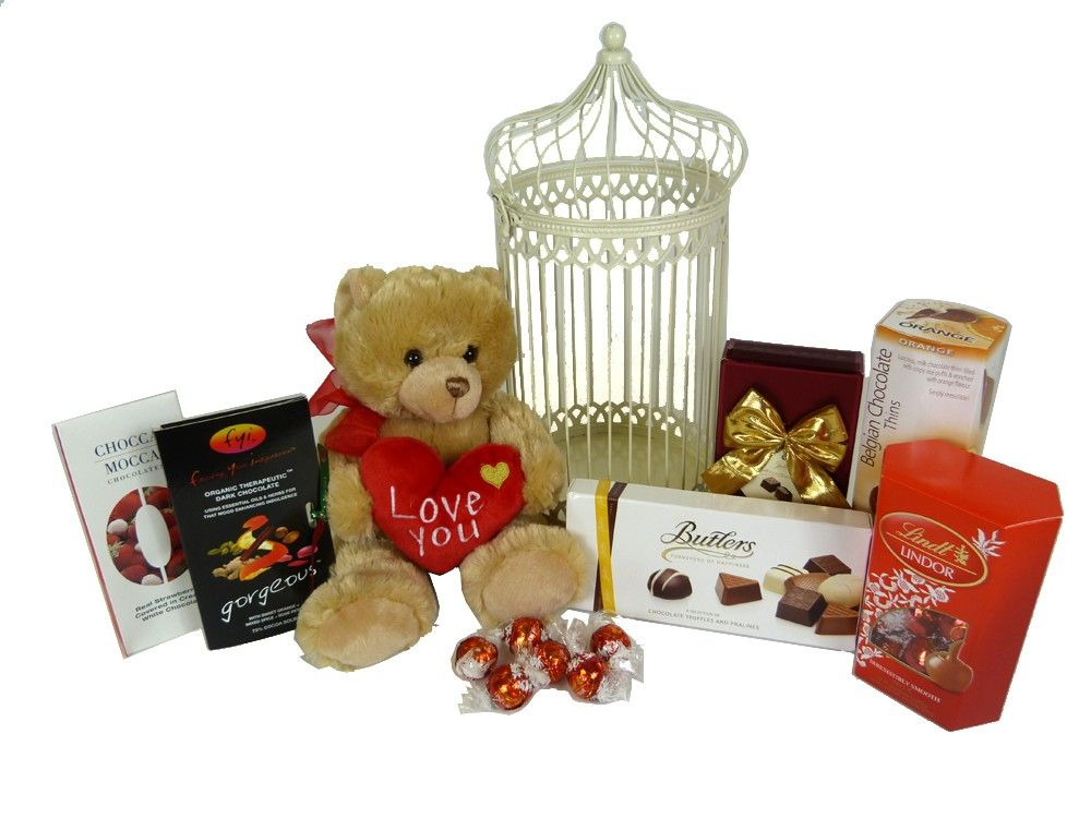 Buy online chocolate teddy hamper 4550 online